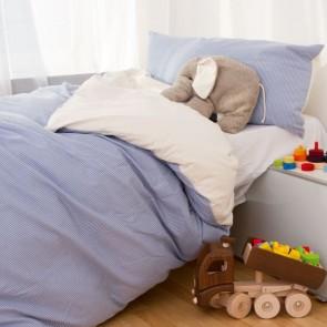 Edelbiber Kinderbettwäsche Streifenflanell